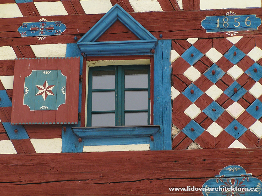 Gable of half-timbered house