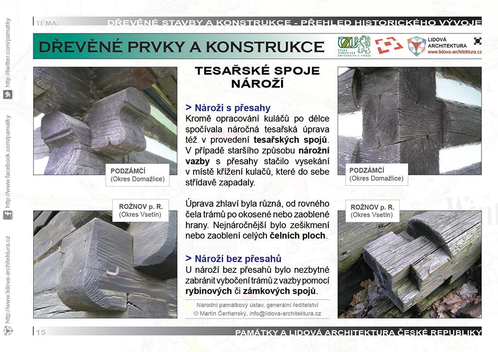 Tesařské spoje na nároží roubených staveb