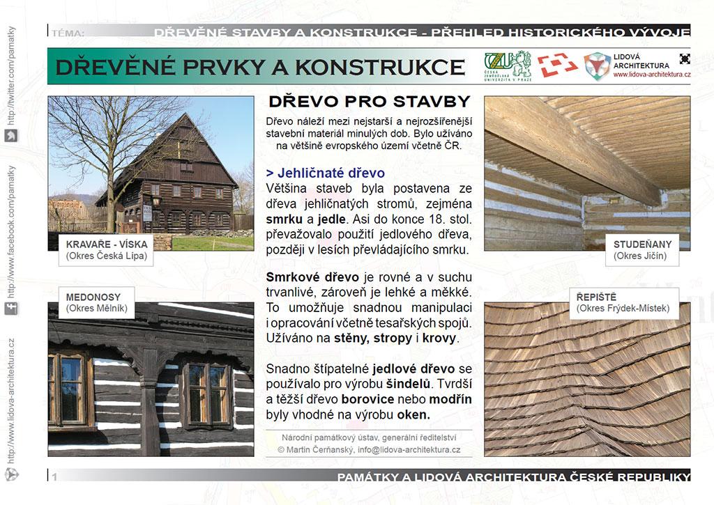 Jehličnaté dřevo pro stavební prvky a konstrukce