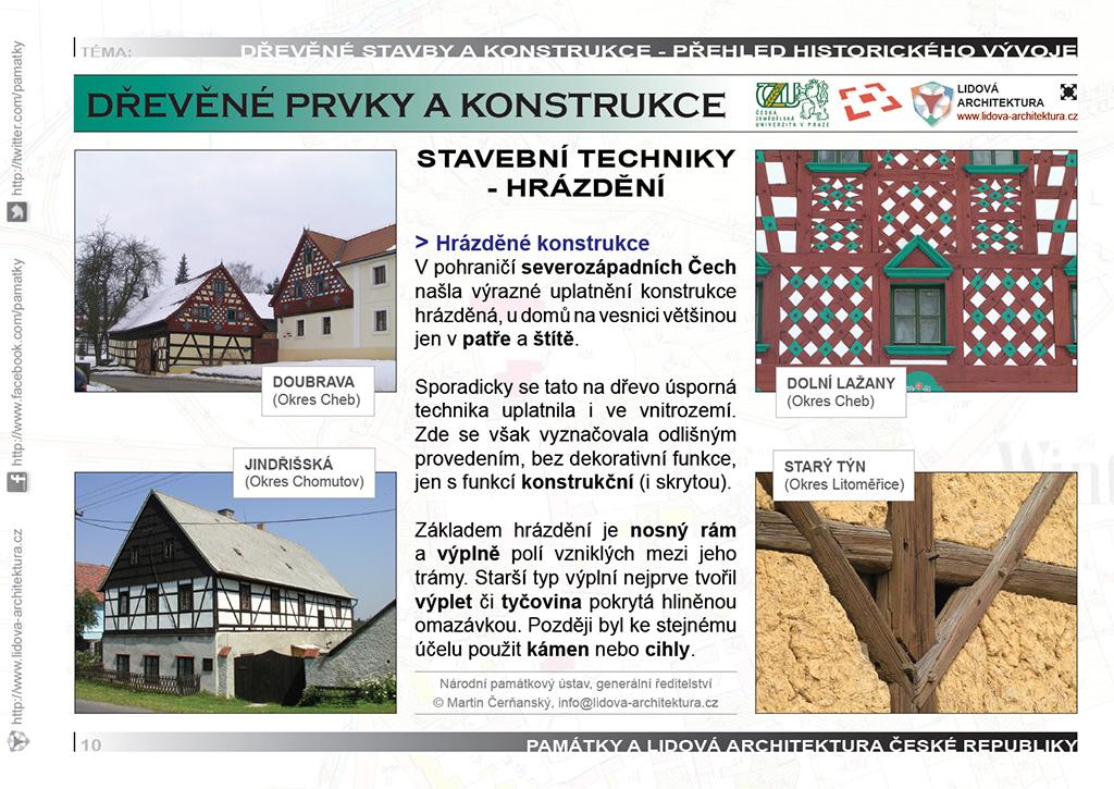 Hrázděné stavební konstrukce a technika hrázdění