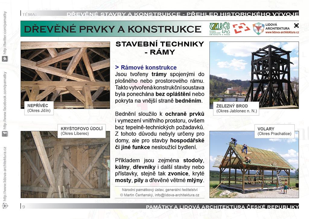 Rámové stavební konstrukce a provedení rámů