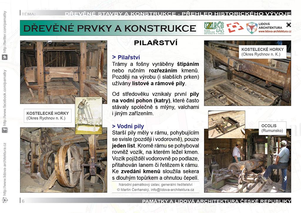 Pilařství a zpracování stavebního dřeva na pilách