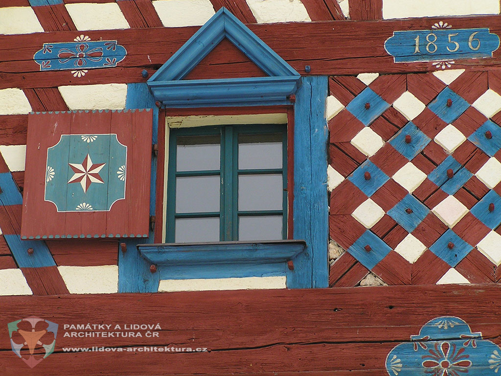 Half-timbered gable with painting