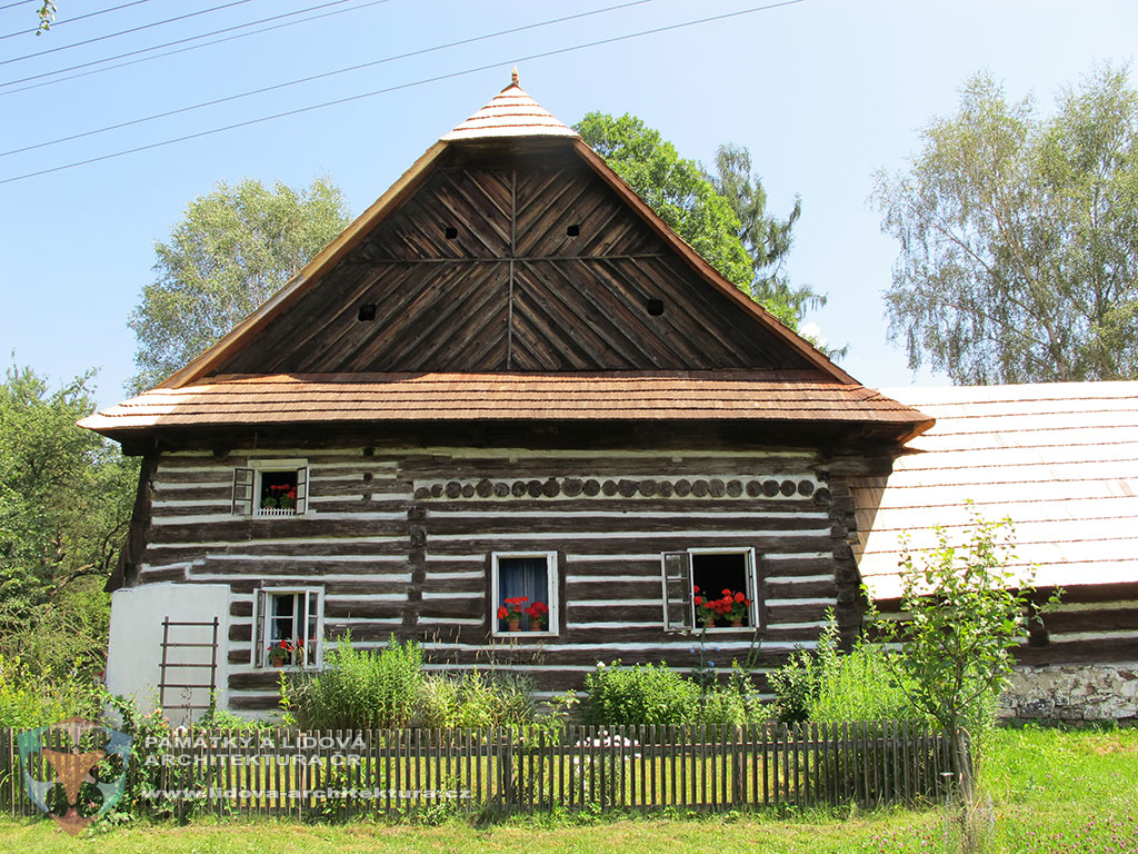 Granary house with a planked gable as an example of vernacular architecture